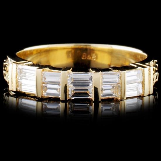 14K Gold 0.62ctw Diamond Ring