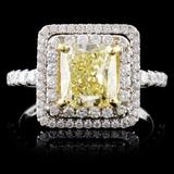 18K White Gold 2.57ctw Fancy Diamond Ring
