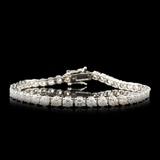 14K Gold 7.59ctw Diamond Bracelet