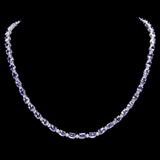 14k Gold 23.00ct Tanzanite & 1.00ct Diamond Neckl