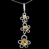 18K Gold 2.76ctw Fancy Diamond Pendant