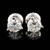 14K Gold 0.72ctw Diamond Earrings