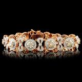 18K Gold 8.55ctw Diamond Bracelet