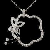 18K White Gold 1.30ctw Diamond Pendant