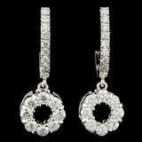 14K Gold 1.76ctw Diamond Earrings