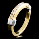 14K TT Gold 0.25ctw Diamond Ring