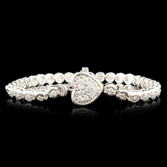 14K Gold 1.18ctw Diamond Bracelet