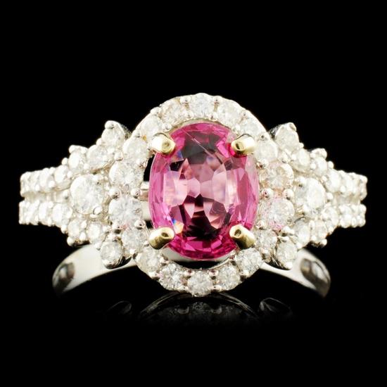 18K Gold 1.59ct Spinel & 0.84ctw Diamond Ring