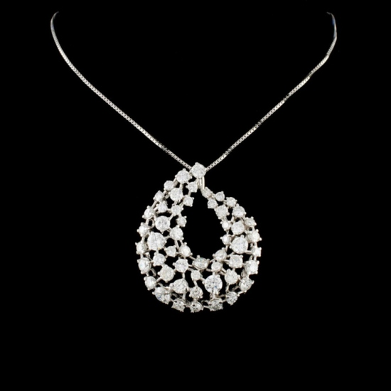 14K Gold 4.80ctw Diamond Pendant
