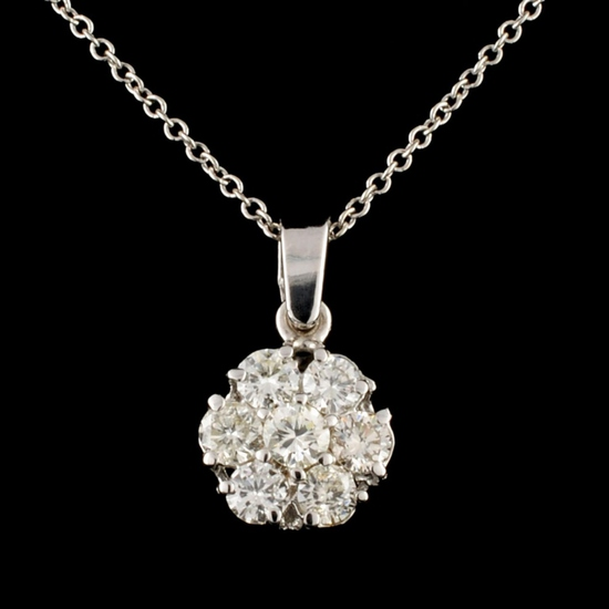 14K Gold 0.65ctw Diamond Pendant