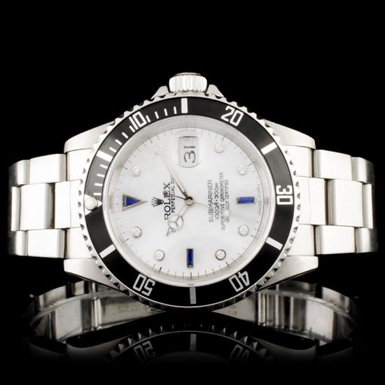 Rolex Submariner SS 40MM Diamond Wristwatch