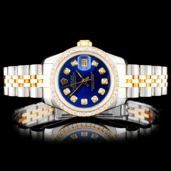 Rolex DateJust Ladies Diamond Wristwatch