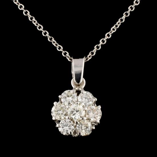 14K Gold 0.65ctw Diamond Pendant
