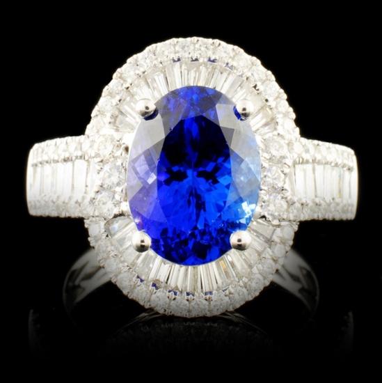 18K Gold 3.55ct Tanzanite & 1.18ctw Diamond Ring