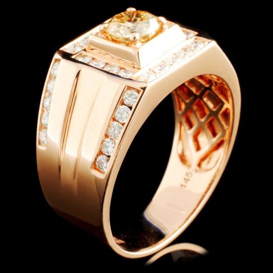 14K Gold 1.45ctw Fancy Color Diamond Ring