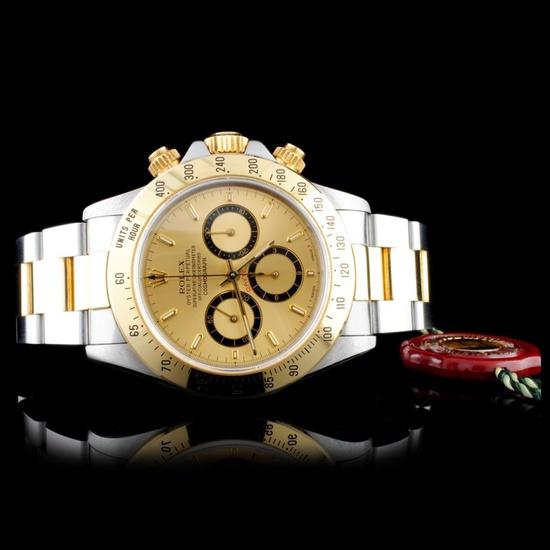 Rolex Daytona Zenith 18K & SS 40MM Wristwatch