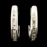 14K Gold 0.59ctw Diamond Earrings