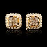 10K Gold 0.38ctw Diamond Earrings