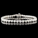 14K Gold 3.15ctw Diamond Bracelet