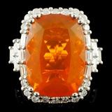 18K Gold 11.31ct Opal & 1.44ctw Diamond Ring