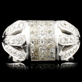 18K Gold 1.56ctw Diamond Ring