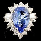 14K Gold 5.86ct Tanzanite & 1.46ctw Diamond Ring
