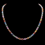 14k Gold 27.00ct Sapphire & 1.25ct Diamond Neckla