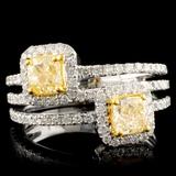 18K Gold 1.67ctw Fancy Diamond Ring