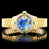 Rolex DateJust 18K YG Diamond 26MM Wristwatch