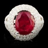 14K Gold 5.57ct Ruby & 1.49ctw Diamond Ring