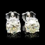 14K Gold 1.50ctw Diamond Earrings