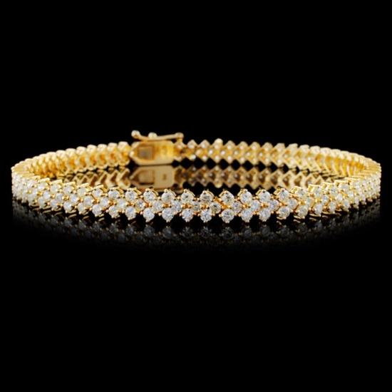 18K Yellow Gold 4.00ctw Diamond Bracelet