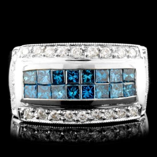 18K Gold 1.03ctw Diamond Ring