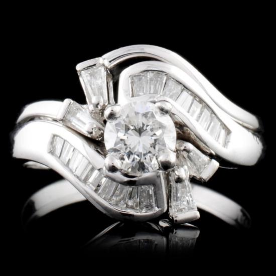 Platinum 1.22ctw Diamond Ring