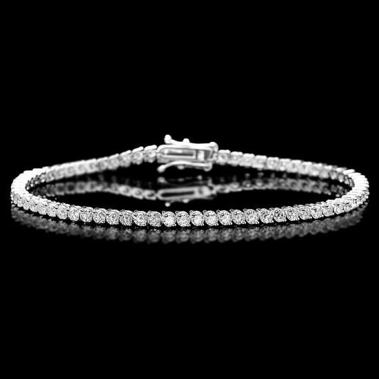 18k White Gold 4.00ct Diamond Bracelet