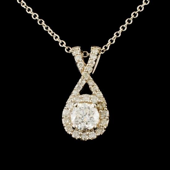 14K Gold 0.51ctw Diamond Pendant