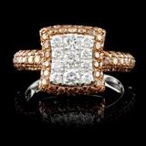 14K Gold 1.55ctw Fancy Diamond Ring