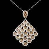 14K Gold 4.09ctw Diamond Pendant