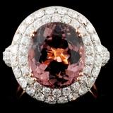 18K Gold 6.02ct Tourmaline & 2.14ct Diamond Ring