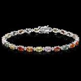 14k Gold 12.00ct Sapphire & 0.50ct Diamond Bracel