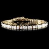 14K Gold 4.12ctw Diamond Bracelet