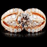 18K Gold 2.20ctw Fancy Color Diamond Ring