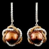 14K Gold 9.5MM Pearl & 2.23ctw Diamond Earrings
