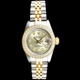 Rolex DateJust 18K/SS Diamond Ladies Watch