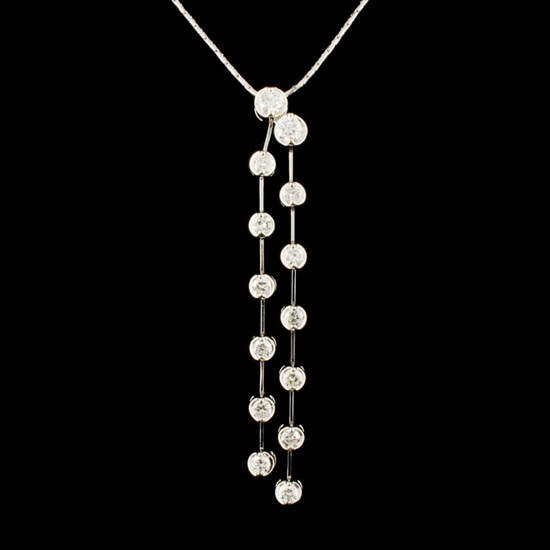 14K Gold 0.72ctw Diamond Pendant