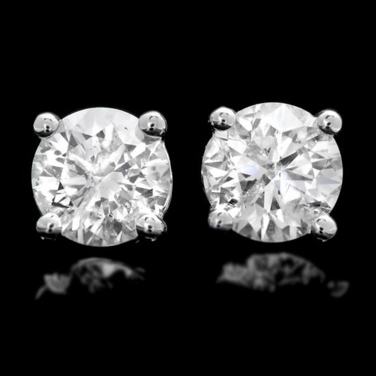 14k White Gold 1.22ct Diamond Earrings