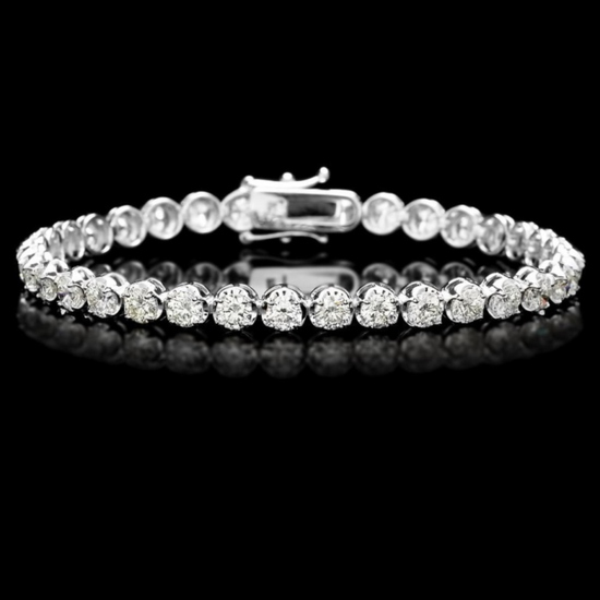 ^18k White Gold 9.00ct Diamond Tennis Bracelet