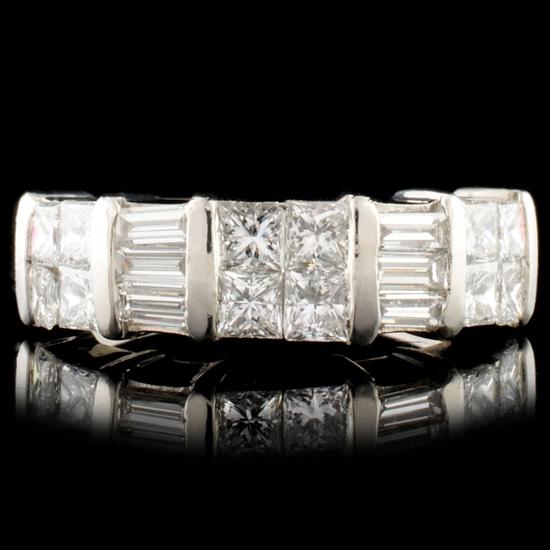 1.71ctw Diamond Platinum Ring