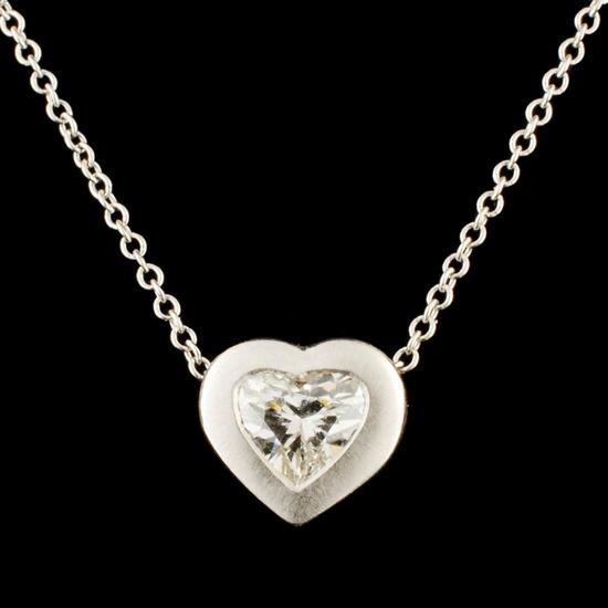 0.50ctw Diamond Platinum Pendant