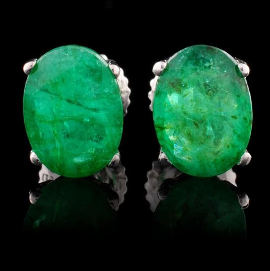 14K Gold 2.59ctw Emerald Earrings